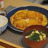 ぶ厚い豚ロースを使ったカツ煮で朝ごはん