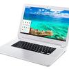 15.6型Chromebook、Acer Chromebook 15発表 Core i3プロセッサやフルHD液晶搭載