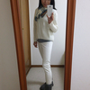 ユニクロの特価セーターを高級に見せるコーデ