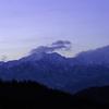 冬の長野の山へ行って白馬山などを撮影しました