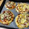 子どもと一緒に手作りピザ