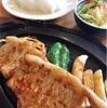 野尻湖二周ランと生姜焼き定食