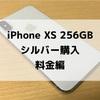 iPhone XS 256GB シルバー購入 料金編