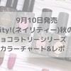 9月10日発売ジェルネイル Naility! (ネイリティー!)ショコラトリーシリーズ レポ&カラーチャート
