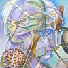 アクリル絵具「平面化のエチュード」