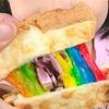 レインボーチーズトーストの作り方。子供は大喜び!