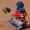 中学野球。キャッチャーのキャッチングについて。ミットを止める理由