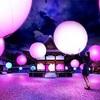 下鴨神社 糺の森の光の祭。ライトアップされる球体。