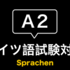 【ドイツ語試験A2】Sprachen(スピーキング)試験完全対策法