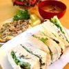 桜海老食パンでツナサンド&ラクレットのマッシュルーム乗せ