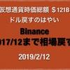 【ドル円 週足中期までタッチし水平上向き】2019/2/13 仮想通貨時価総額 $121B