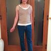 デコルテを美しく見せるコーデ|ベージュのニットキャミは大人の女が着る逸品
