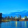 【これがニューヨークの夜景3】ブルックリン橋からマンハッタン方面の夜景もキレイでした☆☆