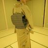 【コーディネート例】型染めの紬の着物でお稽古へ