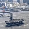 米空母「ロナルド・レーガン」が横須賀出港