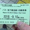 ドニチエコでない一日乗車券を買ってみた