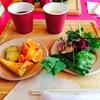 【飯田橋】プティ・ボノの野菜バイキングランチ。