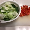 青梗菜のカレー