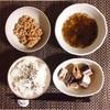さんま水煮、沖縄県産もずく酢、小粒納豆。