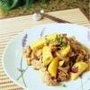「タレ簡単!」さつまいも入り豚バラ肉とこんにゃくの炒め物のレシピ