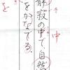 ペン習字の近況と、パイロットペン習字7月課題の添削と講評