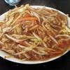 札幌市豊平区平岸 中国料理 珠華飯店 平岸店で肉やきそば(肉絲炒麺)