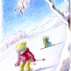 封筒「スキー」