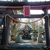 富士山の麓で神社のはしご
