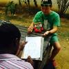 自称、プロの画家のザンビア人に似顔絵を書いてもらったよ。