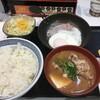 ハムエッグ納豆定食をOrigami Pay クーポン使い100円引きで、いただきました。 (@ 吉野家 池袋東口店 - @yoshinoyagyudon in 豊島区, 東京都)