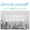 ZOOM時代の必須表現シリーズ:Unmute yourself. どういう意味でしょう?