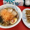 京急田浦駅近くの〈ラーメン・ギョウザのやまもと〉でネギチャーシューめんと餃子