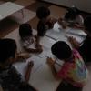 戸外遊びと字の練習!