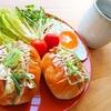 ネギマヨチキンロールパンサンド【朝食サンドイッチレシピ】