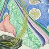 【制作の記録】端午の節句、平安時代 その2:布地の表裏を塗り分けてみた。