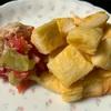 【 娘ご飯 】『キュウリとトマトのサラダ』と『しらすと納豆のにゅうめん』