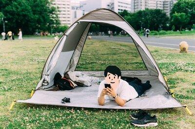 【やることのない休日こそ】サンシェードテントを持って公園に行くと幸せを感じられて良いですよ。