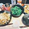 餃子と焼きそばにクリアアサヒ秋の宴で乾杯
