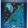インドネシアの布のポストカード