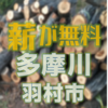 多摩川の伐採木を無償配布があります 12月1日 羽村市