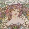 ミュシャの最高傑作といわれる作品「夢想」のぬり絵を塗ってみた