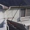 先週の大風でアンテナが倒れていました。