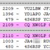 80m FT8のXW0LP ラオス ピックアップされません