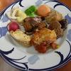 幸運な病のレシピ( 348 ) 朝:煮しめ、ニシン醤油煮、シイタケ肉詰、卵焼、ひたし豆、サラダチキン