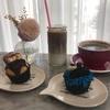 可愛いカップケーキが沢山あるカフェ