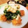 鮭団子とキャベツロールのタルタルソース