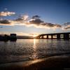 朝日と夕焼けで撮る琵琶湖