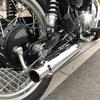 Kawasaki W400 マフラー交換!