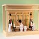 シンプルな箱型神棚の神具一式セットの祭り例 筋幕聖箱宮三社中型