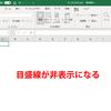 【Excel】シートの目盛線(セルの枠線)を非表示にする方法